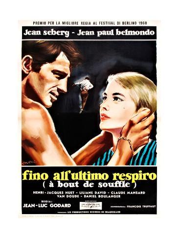 Breathless, (aka a Bout De Souffle aka Fino All'Ultimo Respiro), 1960 Gicléetryck