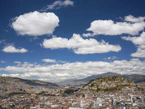 City View with El Panecillo, Quito, Ecuador Photographic Print
