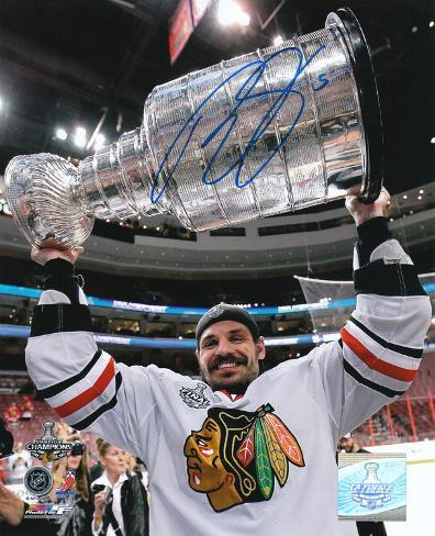 Brent Sopel Chicago Blackhawks 2010 Stanley Cup Autographed Photo (Hand Signed Collectable) Photo