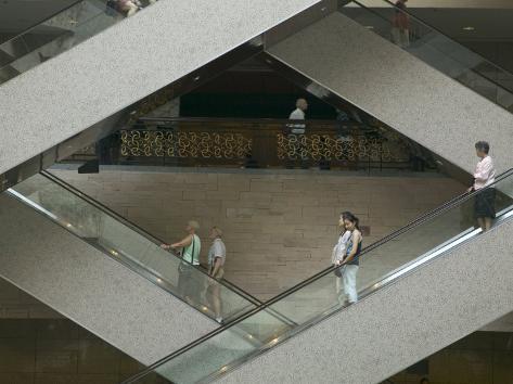 Escalators in the Shanghai Museum, Shanghai, China Photographic Print