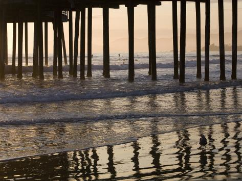 Pacific Ocean and Pismo Beach Pier Photographic Print