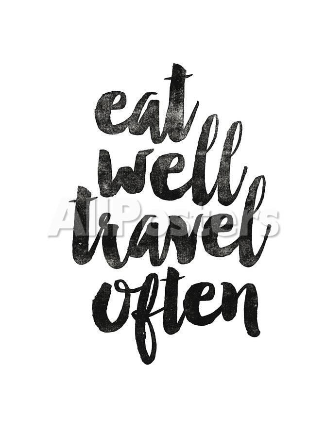 オールポスターズの brett wilson eat well travel often 2 高画質プリント