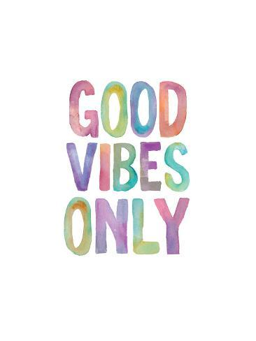 good vibes only watercolor art by brett wilson at allposters com au