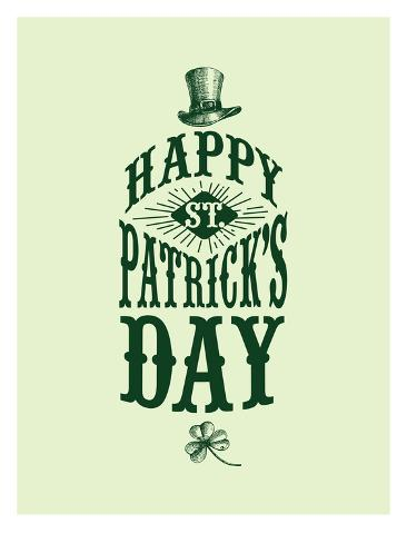 Happy St Patricks Day Stampa artistica
