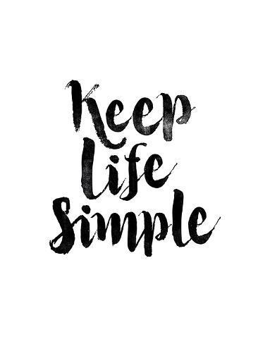 オールポスターズの brett wilson keep life simple 高品質プリント