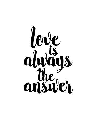 love is always the answer print by brett wilson at allposters com