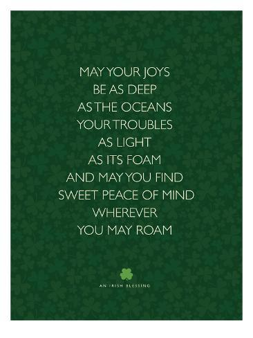 May Your Joys Stampa artistica