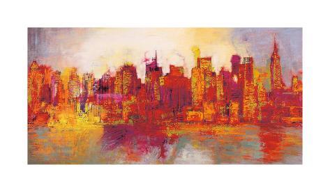 Abstract New York City Gicléetryck