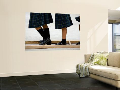Legs of Playing Schoolgirls at St. Vincent Elemetary School Wall Mural