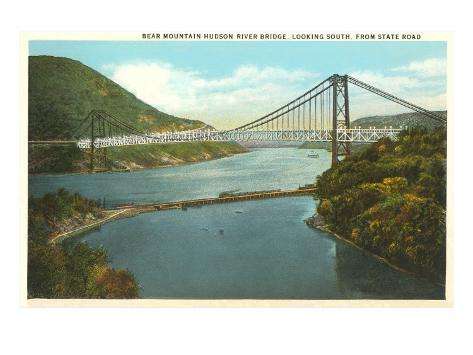 Bridge over Hudson River, New York Art Print