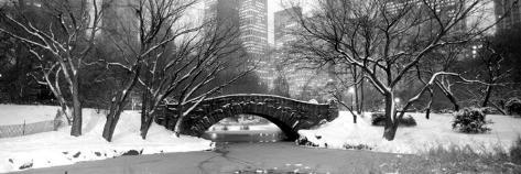 Bridge Stone in Central Park Stretched Canvas Print