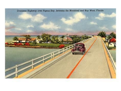 Bridge to Key West, Florida Art Print