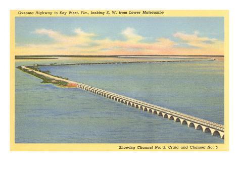 Bridge to Key West, Florida Art Print