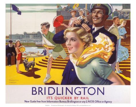 Bridlington: Its Quicker By Rail, LNER, c.1923-1947 Art Print