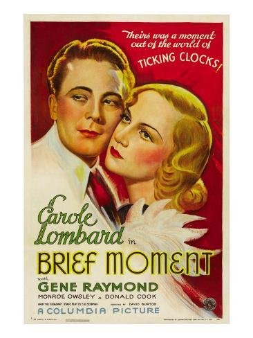 Brief Moment, Gene Raymond, Carole Lombard, 1933 写真