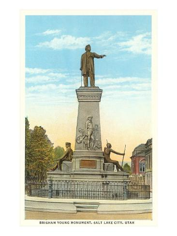 Brigham Young Monument, Salt Lake City, Utah Art Print