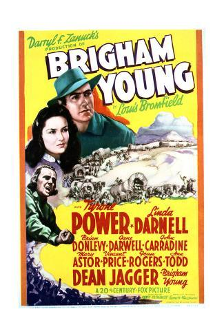 Brigham Young - Movie Poster Reproduction Stampa artistica