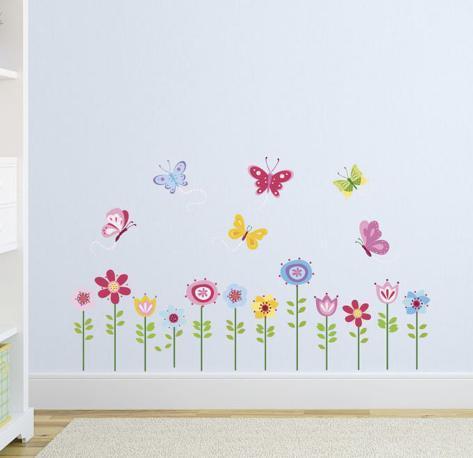Bright Butterfly Garden Adesivo de parede