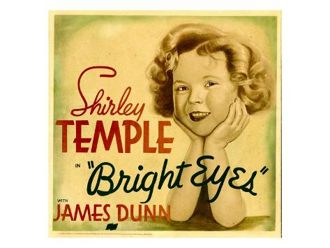 Bright Eyes, Shirley Temple on Jumbo Window Card, 1934 Photo