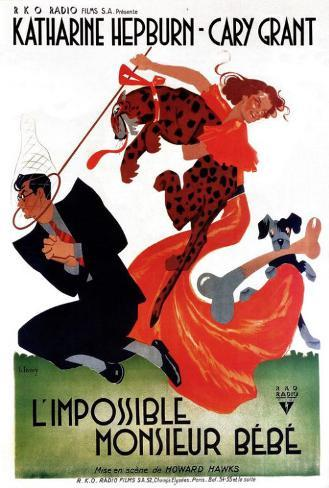 Bringing Up Baby - French Style Poster
