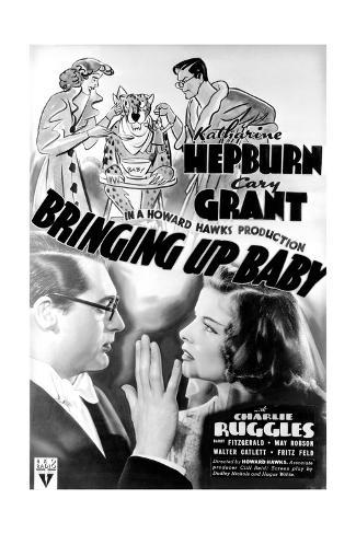 Bringing Up Baby - Movie Poster Reproduction Premium Giclee Print