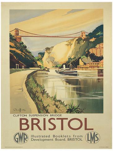 Bristol Vintage Style Travel Poster Masterprint - AllPosters.co.uk