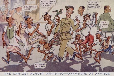 British Military in India Stampa giclée