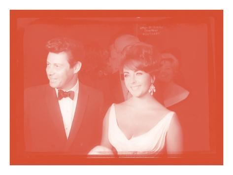 Elizabeth Taylor with Eddie Fisher In Colour Photographic Print