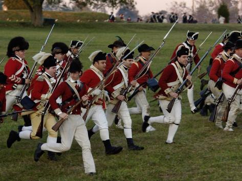 British Sortie Reenactment at Yorktown Battlefield, Virginia Stampa fotografica
