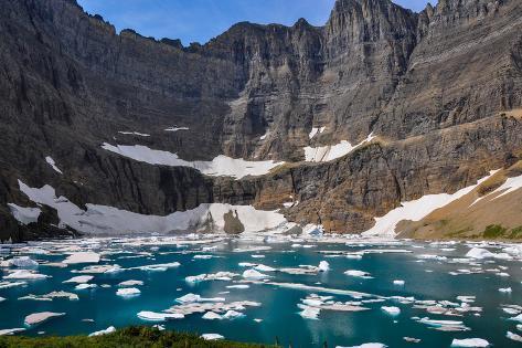 Iceberg Trail in Glacier National Park, Montana, Usa Photographic Print