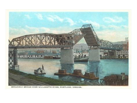 Broadway Bridge, Portland, Oregon Art Print