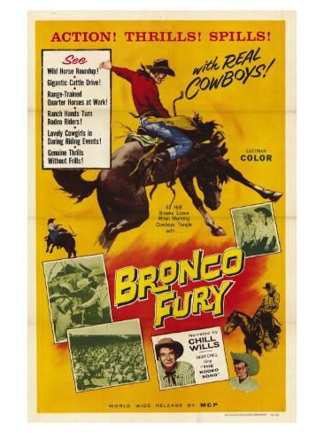 Bronco Fury, 1959 Art Print