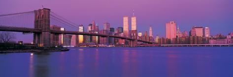 Brooklyn Bridge at Sunrise Stretched Canvas Print
