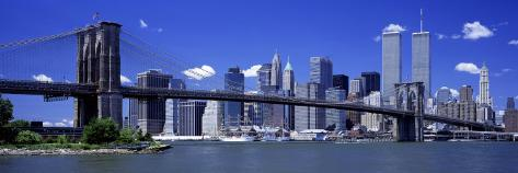 Brooklyn Bridge Skyline New York City Ny, USA Photographic Print At  AllPosters.com