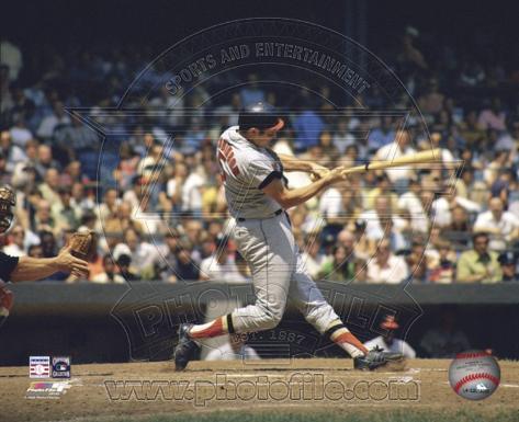 Brooks Robinson - Batting Action Photo