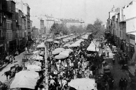 Marseilles the Market of the Julien Course Photographic Print