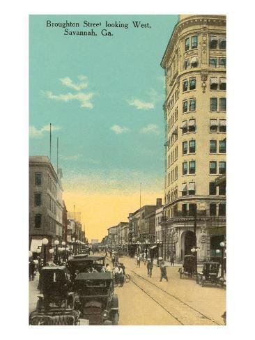Broughton Street, Savannah, Georgia Art Print