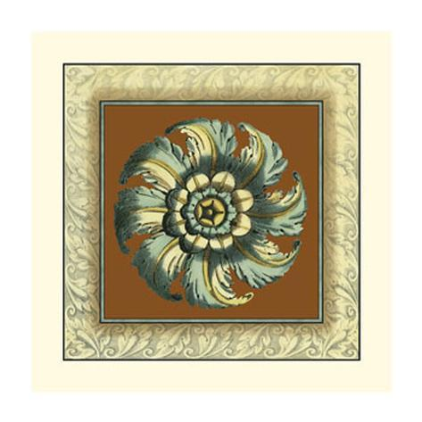 Brown and Blue Rosettes II Giclee Print