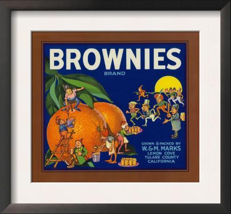 Brownies Brand Citrus Crate Label - Lemon Cove, CA Framed Art Print