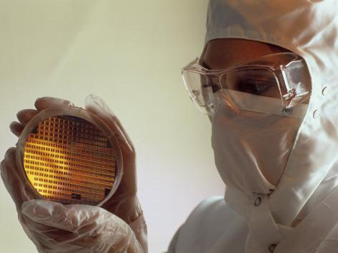 Electronic Wafer Manufacturing Photographic Print