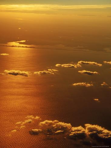 Aerial View, off the Coast of NY Photographic Print