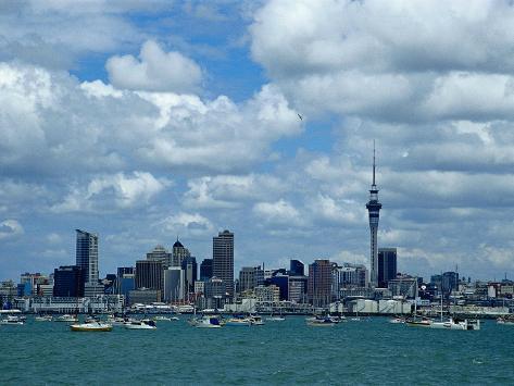 Auckland Skyline, New Zealand Photographic Print