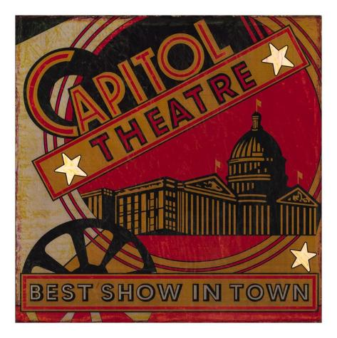 The Best Show In Town Art Print