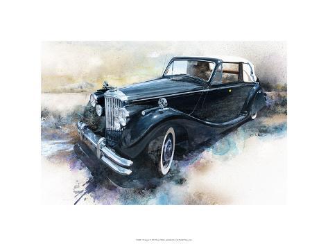 '50 Jaguar Premium Giclee Print