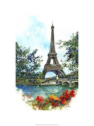 Eiffel Tower - Paris, France Premium Giclee Print