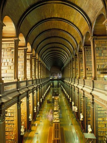 Gallery of the Old Library, Trinity College, Dublin, County Dublin, Eire (Ireland) Photographic Print