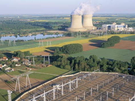 Nuclear Power Station of Saint Laurent-Des-Eaux, Pays De Loire, Loire Valley, France Photographic Print
