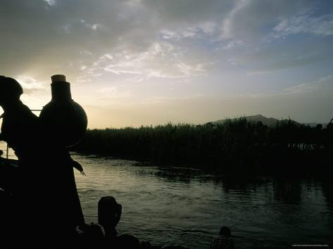 On the Blue Nile River, Near Lake Tana, Gondar Region, Ethiopia, Africa Photographic Print