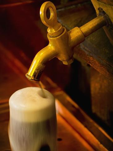 Beer on Tap at the Schlenkerla Brewery Photographic Print