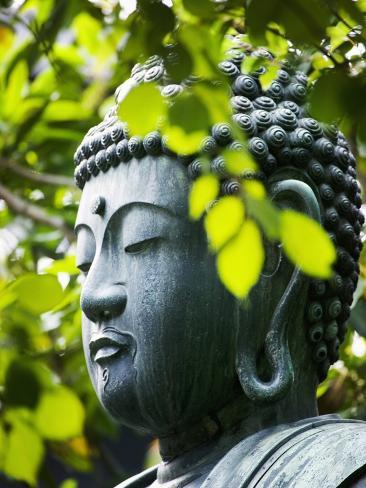 Buddha in Senso-ji Temple Garden Photographic Print